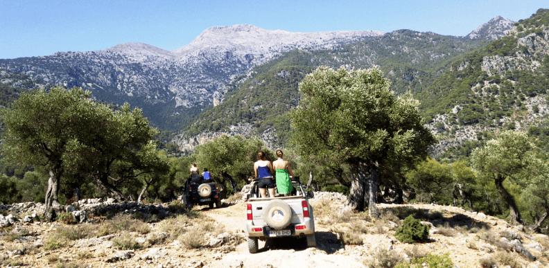 Landschaft während Jeep Safari Mallorca