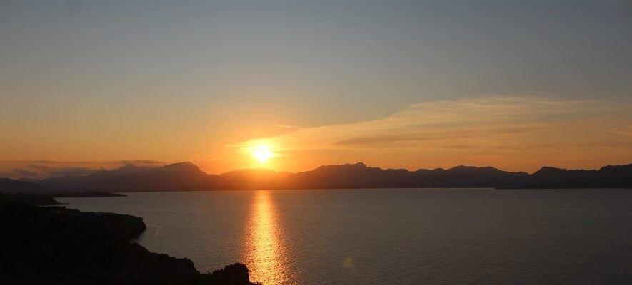 Sonnenuntergang in Pollensa Bucht
