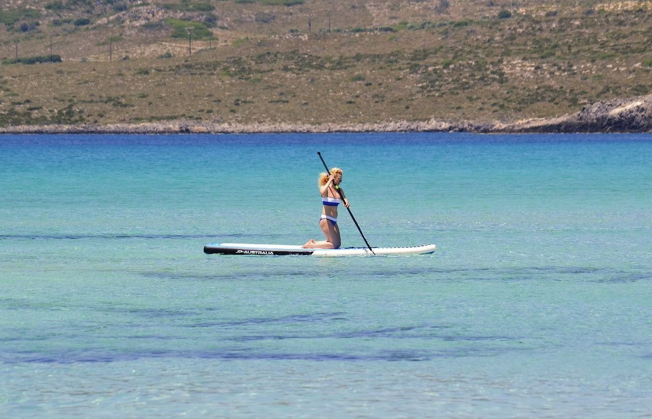 Stand up paddle board in Pollensa Bay