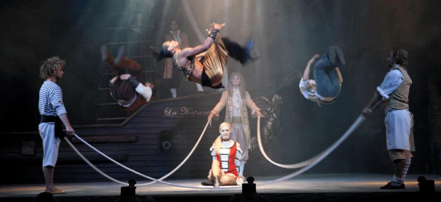 ticket to acrobatic pirates show in Mallorca